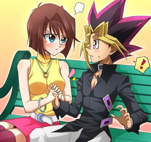 Tags: Anime, Pixiv Id 17808547, Yu-Gi-Oh! The Dark Side of Dimensions, Yu-Gi-Oh!, Yu-Gi-Oh! Duel Monsters, Mutou Yuugi, Mazaki Anzu, Fanart From Pixiv, Fanart, PNG Conversion, Pixiv, OmoAn