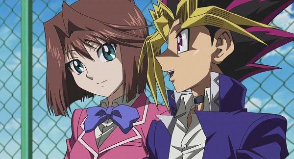 Tags: Anime, Studio Gallop, Yu-Gi-Oh! The Dark Side of Dimensions, Yu-Gi-Oh!, Yu-Gi-Oh! Duel Monsters, Mutou Yuugi, Mazaki Anzu, Screenshot, OmoAn