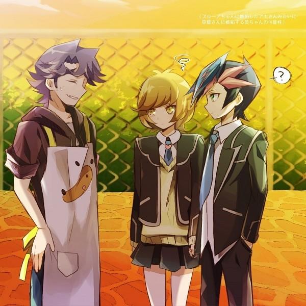 Tags: Anime, Pixiv Id 2517232, Yu-Gi-Oh! VRAINS, Yu-Gi-Oh!, Zaizen Aoi, Fujiki Yuusaku, Kusanagi Shouichi, Fanart From Pixiv, Pixiv, Fanart