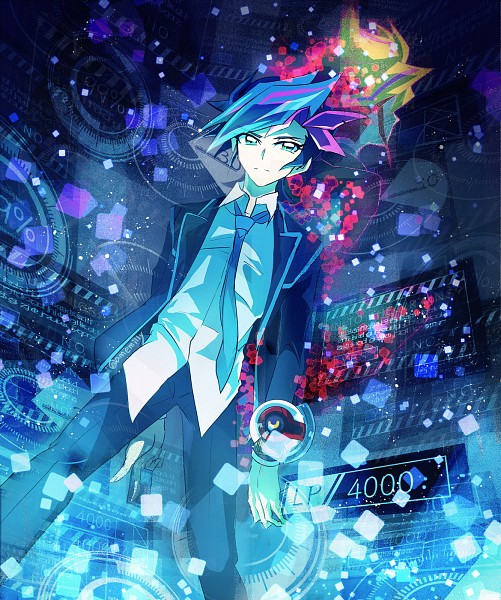 Tags: Anime, Pixiv Id 3710995, Yu-Gi-Oh! VRAINS, Yu-Gi-Oh!, Fujiki Yuusaku, Ai (Yu-Gi-Oh! VRAINS), Playmaker, Square, Pixiv, Fanart, Fanart From Pixiv