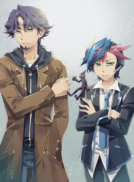 Tags: Anime, Pixiv Id 812384, Yu-Gi-Oh! VRAINS, Yu-Gi-Oh!, Ai (Yu-Gi-Oh! VRAINS), Kusanagi Shouichi, Fujiki Yuusaku, Fanart, Fanart From Pixiv, Pixiv