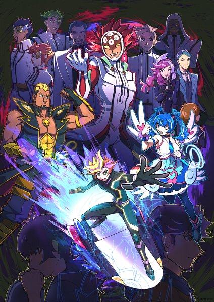 Tags: Anime, Pixiv Id 1906197, Yu-Gi-Oh! VRAINS, Yu-Gi-Oh!, Fujiki Yuusaku, Bessho Ema, Specter, Taki Kyoko, Kusanagi Shouichi, Aso, Onizuka Gou, Kougami Ryouken, Zaizen Akira