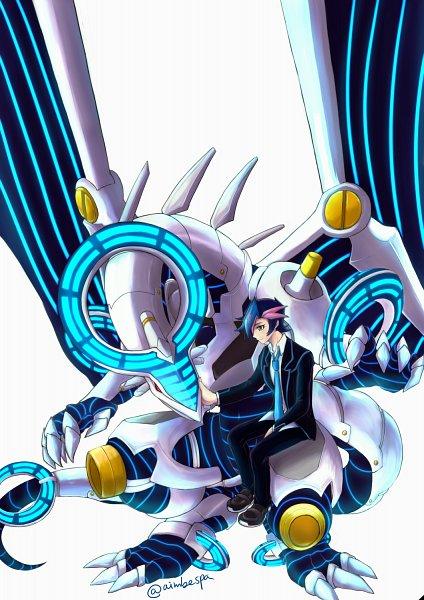 Tags: Anime, Pixiv Id 307477, Yu-Gi-Oh! VRAINS, Yu-Gi-Oh!, Firewall Dragon, Fujiki Yuusaku, Fanart From Pixiv, Pixiv, Fanart