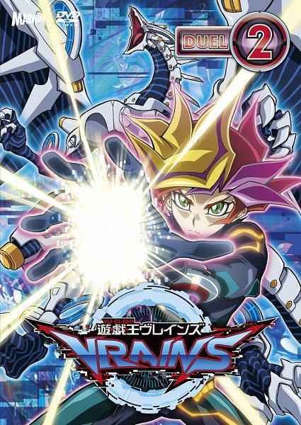 Tags: Anime, Yu-Gi-Oh! VRAINS, Yu-Gi-Oh!, Firewall Dragon, Playmaker, Fujiki Yuusaku, Official Art, Scan, DVD (Source)