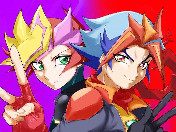 Tags: Anime, Pixiv Id 4220699, Yu-Gi-Oh! VRAINS, Yu-Gi-Oh!, Soulburner, Homura Takeru, Playmaker, Fujiki Yuusaku, Three Gesture, Fanart, Fanart From Pixiv, Pixiv, Wallpaper
