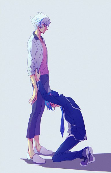 Tags: Anime, Ryou*, Yu-Gi-Oh! VRAINS, Yu-Gi-Oh!, Fujiki Yuusaku, Kougami Ryouken, Gray Jacket, Fanart, Twitter, RyouYuu