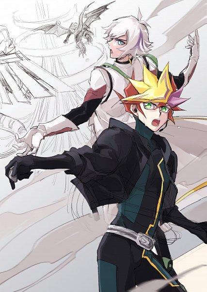 Tags: Anime, Pixiv Id 2916325, Yu-Gi-Oh! VRAINS, Yu-Gi-Oh!, Playmaker, Fujiki Yuusaku, Kougami Ryouken, Revolver (Yu-Gi-Oh! VRAINS), Revolver (Yu-Gi-Oh! VRAINS) (Cosplay), Knights of Hanoi Uniform, Fanart From Pixiv, Pixiv, Fanart