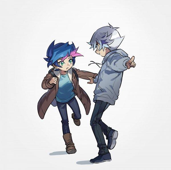 Tags: Anime, Pixiv Id 6620471, Yu-Gi-Oh! VRAINS, Yu-Gi-Oh!, Kougami Ryouken, Fujiki Yuusaku, Fanart From Pixiv, Pixiv, Fanart
