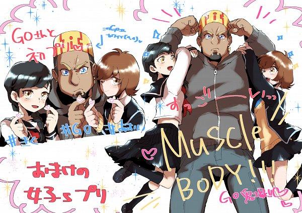 Tags: Anime, Pixiv Id 2369832, Yu-Gi-Oh! VRAINS, Yu-Gi-Oh!, Zaizen Aoi, Kiku (Yu-Gi-Oh! VRAINS), Onizuka Gou, Fanart, Fanart From Pixiv, Pixiv