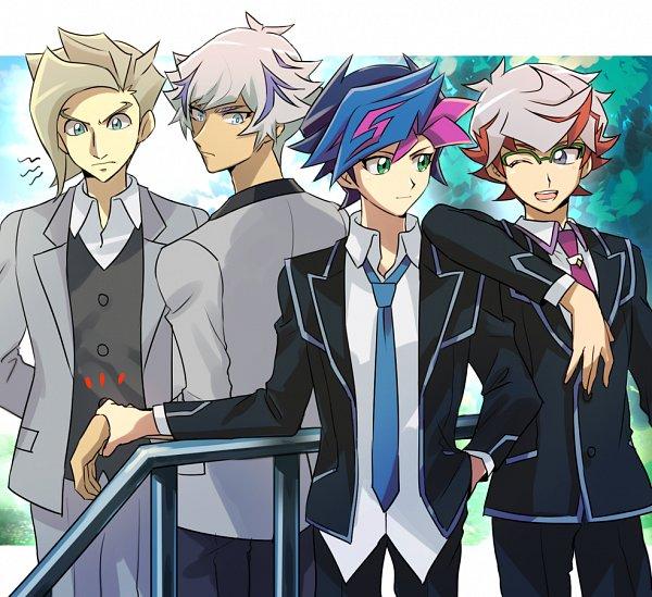 Tags: Anime, Pixiv Id 117696, Yu-Gi-Oh! VRAINS, Yu-Gi-Oh!, Homura Takeru, Kougami Ryouken, Specter, Fujiki Yuusaku, Fanart, Fanart From Pixiv, Pixiv