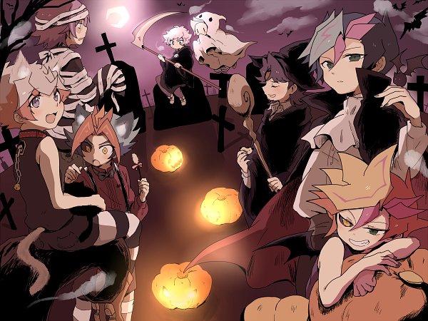 Tags: Anime, Pixiv Id 4741089, Yu-Gi-Oh! VRAINS, Yu-Gi-Oh!, Kougami Ryouken, Doujun Kengo, Ai (Yu-Gi-Oh! VRAINS), Flame (Yu-Gi-Oh! VRAINS), Kusanagi Shouichi, Specter, Soulburner, Playmaker, Homura Takeru
