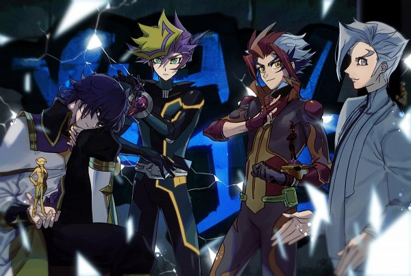 Tags: Anime, Yu-Gi-Oh! VRAINS, Yu-Gi-Oh!, Flame (Yu-Gi-Oh! VRAINS), Fujiki Yuusaku, Soulburner, Homura Takeru, Kusanagi Jin, Specter, Lightning (Yu-Gi-Oh! VRAINS), Playmaker, Fanart, Artist Request