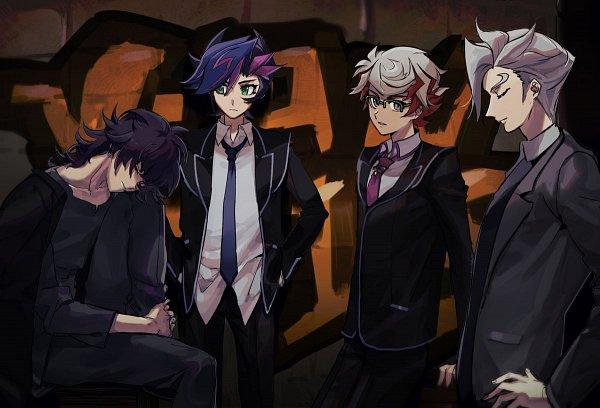 Tags: Anime, Yu-Gi-Oh! VRAINS, Yu-Gi-Oh!, Kusanagi Jin, Fujiki Yuusaku, Homura Takeru, Specter, Fanart, Artist Request