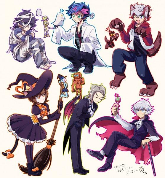 Tags: Anime, Pixiv Id 117696, Yu-Gi-Oh! VRAINS, Yu-Gi-Oh!, Fujiki Yuusaku, Aqua (Yu-Gi-Oh! VRAINS), Kusanagi Jin, Earth (Yu-Gi-Oh! VRAINS), Specter, Kougami Ryouken, Windy (Yu-Gi-Oh! VRAINS), Ai (Yu-Gi-Oh! VRAINS), Flame (Yu-Gi-Oh! VRAINS)