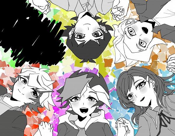 Tags: Anime, Pixiv Id 27382621, Yu-Gi-Oh! VRAINS, Yu-Gi-Oh!, Sugisaki Miyu, Homura Takeru, Specter, Kusanagi Jin, Fujiki Yuusaku, Fanart From Pixiv, Pixiv, Fanart