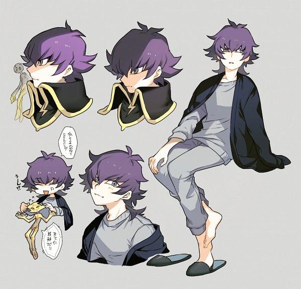 Tags: Anime, Tong Yusaku, Shilla P, Yu-Gi-Oh! VRAINS, Yu-Gi-Oh!, Kusanagi Jin, Lightning (Yu-Gi-Oh! VRAINS), Gray Outfit, Pixiv, Fanart From Pixiv, Fanart