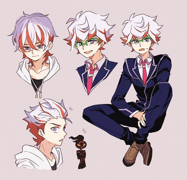 Tags: Anime, Shilla P, Yu-Gi-Oh! VRAINS, Yu-Gi-Oh!, Flame (Yu-Gi-Oh! VRAINS), Homura Takeru, Mouthless, Fanart, Pixiv, Fanart From Pixiv
