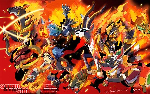 Tags: Anime, Pixiv Id 2211140, Yu-Gi-Oh! VRAINS, Yu-Gi-Oh!, Salamangreat Mole, Homura Takeru, Salamangreat Fowl, Salamangreat Spinny, Salamangreat Gazelle, Salamangreat Miragestallio, Salamangreat Beat Bison, Salamangreat Balelynx, Salamangreat Raccoon