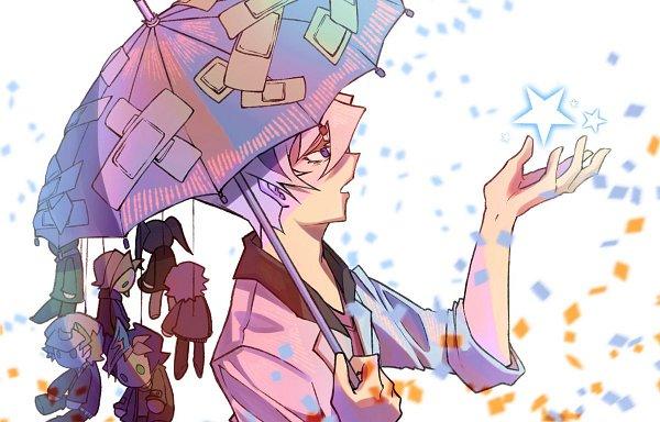 Tags: Anime, Yu-Gi-Oh! VRAINS, Yu-Gi-Oh!, Homura Takeru, Kusanagi Jin, Specter, Kougami Ryouken, Fujiki Yuusaku, Sugisaki Miyu, Artist Request, Fanart