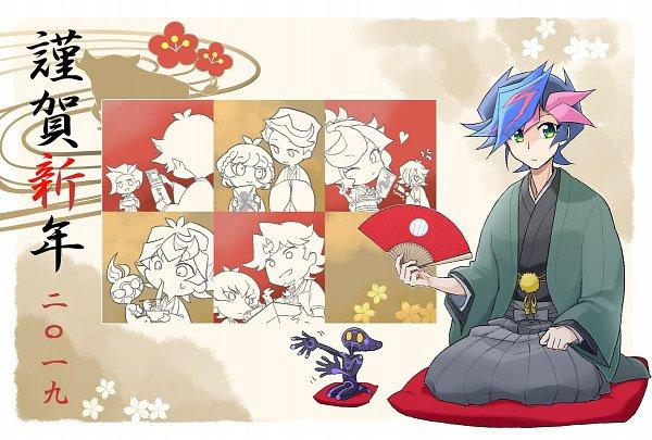 Tags: Anime, Yu-Gi-Oh! VRAINS, Yu-Gi-Oh!, Zaizen Aoi, Doujun Kengo, Bessho Ema, Fujiki Yuusaku, Flame (Yu-Gi-Oh! VRAINS), Ai (Yu-Gi-Oh! VRAINS), Homura Takeru, Kusanagi Shouichi, Kusanagi Jin, Zaizen Akira