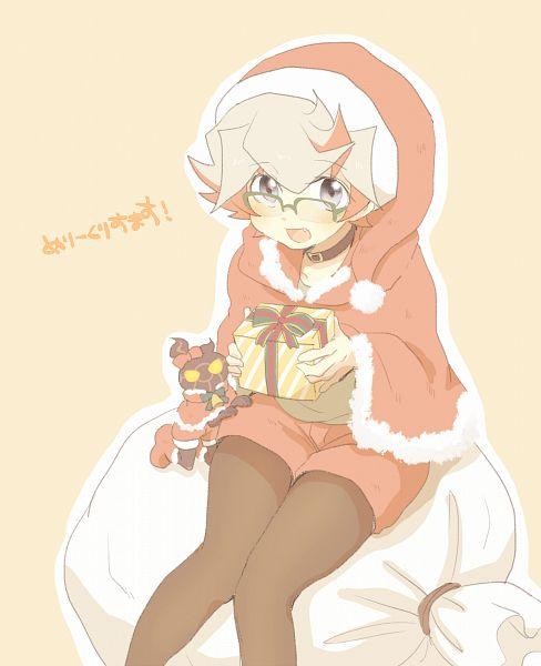 Tags: Anime, Pixiv Id 4741089, Yu-Gi-Oh! VRAINS, Yu-Gi-Oh!, Flame (Yu-Gi-Oh! VRAINS), Homura Takeru, Holding Gift, Fanart From Pixiv, Pixiv, Fanart