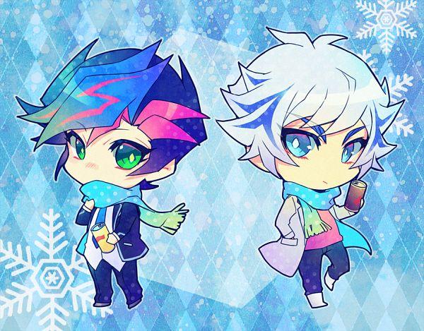 Tags: Anime, Ryou*, Yu-Gi-Oh! VRAINS, Yu-Gi-Oh!, Kougami Ryouken, Fujiki Yuusaku, Can, Fanart, Fanart From Pixiv, Pixiv, RyouYuu