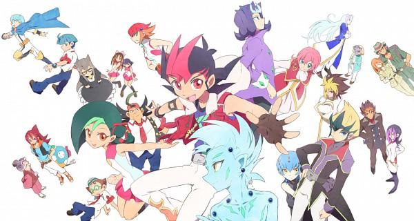 Tags: Anime, Ikegaki, Yu-Gi-Oh! ZEXAL, Yu-Gi-Oh!, Tenjou Kaito, Gauche (Yu-Gi-Oh! ZEXAL), Tsukumo Kazuma, Tsukumo Yuma, Omoteura Tokunosuke, Byron Arclight, Cathy, III (Yu-Gi-Oh! ZEXAL), Tsukumo Mirai