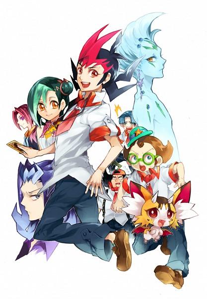 Tags: Anime, Pixiv Id 1980711, Yu-Gi-Oh! ZEXAL, Yu-Gi-Oh!, Tsukumo Yuma, Takeda Tetsuo, Astral, Tsukumo Akari, Kamishiro Ryoga, Omoteura Tokunosuke, Mizuki Kotori, Baby Toragon, Todoroki Takashi