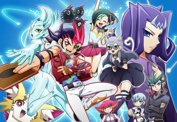 Tags: Anime, Hato Niku, Yu-Gi-Oh! ZEXAL, Yu-Gi-Oh!, Tenjou Haruto, Astral, Orbital 7, Tenjou Kaito, Kamishiro Ryoga, Kurivolt, Cathy, Mizuki Kotori, Baby Toragon
