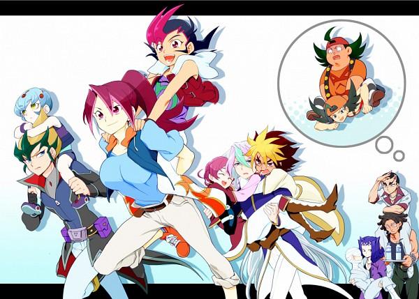 Tags: Anime, Pixiv Id 122810, Yu-Gi-Oh! ZEXAL, Yu-Gi-Oh!, Kamishiro Ryoga, V (Yu-Gi-Oh! ZEXAL), Tenjou Haruto, Kaiou (Yu-Gi-Oh! ZEXAL), Tsukumo Yuma, IV (Yu-Gi-Oh! ZEXAL), Tenjou Kaito, Takeda Tetsuko, III (Yu-Gi-Oh! ZEXAL)