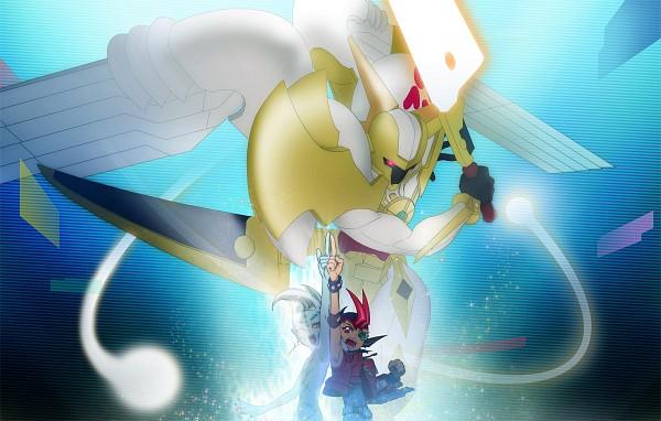 Tags: Anime, Pixiv Id 498301, Yu-Gi-Oh!, Yu-Gi-Oh! ZEXAL, Astral, Tsukumo Yuma, Utopia, Fanart, Pixiv, Fanart From Pixiv
