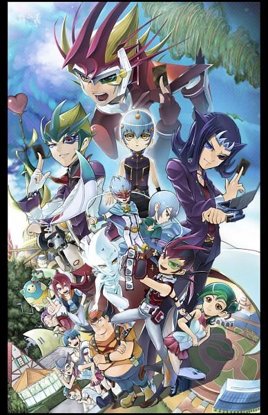 Tags: Anime, Pixiv Id 276799, Yu-Gi-Oh! ZEXAL, Cathy, ESPer Robin, Tsukumo Yuma, Fuya Okudaira, Orbital 7, ZEXAL Power Fusion, Todoroki Takashi, Obomi, Astral, Takeda Tetsuo