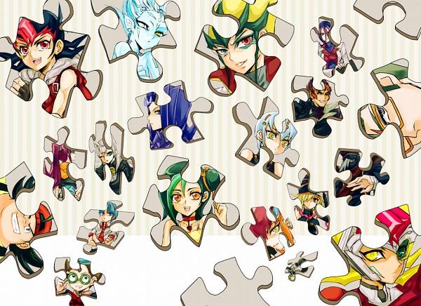Tags: Anime, Mitsuko (HISTORICA), Yu-Gi-Oh!, Yu-Gi-Oh! ZEXAL, Kamishiro Ryoga, Gagaga Magician, Tenjou Kaito, Mizuki Kotori, Gagaga Girl, Mr. Heartland, Cathy, Kozuki Anna, Tsukumo Yuma