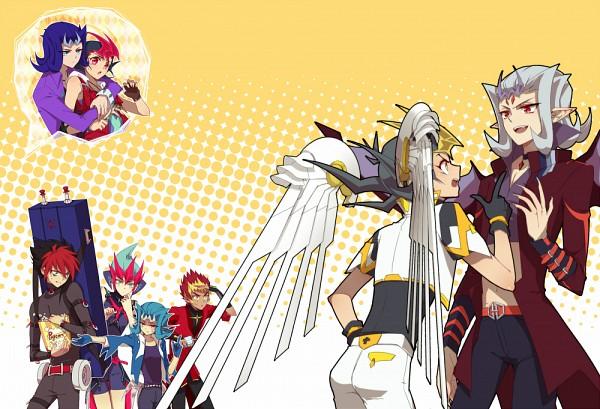 Tags: Anime, Liusang, Yu-Gi-Oh! ZEXAL, Yu-Gi-Oh!, Kamishiro Ryoga, Gauche (Yu-Gi-Oh! ZEXAL), Tsukumo Yuma, Tenjou Kaito, IV (Yu-Gi-Oh! ZEXAL), Utopia (Cosplay), Fanart, Fanart From Pixiv, Pixiv