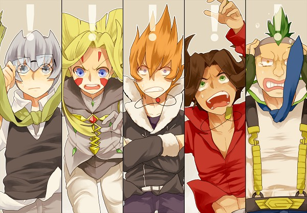 Tags: Anime, Pixiv Id 284986, Yu-Gi-Oh!, Yu-Gi-Oh! ZEXAL, Durbe, Girag, Mizael, Alito, Vector (Yu-Gi-Oh! ZEXAL), Fanart, Fanart From Pixiv, Pixiv, Seven Barian Emperors