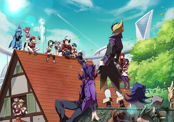 Tags: Anime, Pixiv Id 2128303, Yu-Gi-Oh! ZEXAL, Yu-Gi-Oh!, Cathy, Droite, Mizael, Tsukumo Yuma, Omoteura Tokunosuke, Dark Mist, Gauche (Yu-Gi-Oh! ZEXAL), Alito, Fuya Okudaira