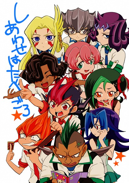 Tags: Anime, Pixiv Id 2112761, Yu-Gi-Oh! ZEXAL, Vector (Yu-Gi-Oh! ZEXAL), Mizuki Kotori, Durbe, Kamishiro Rio, Tsukumo Yuma, Girag, III (Yu-Gi-Oh! ZEXAL), Mizael, Alito, Kamishiro Ryoga