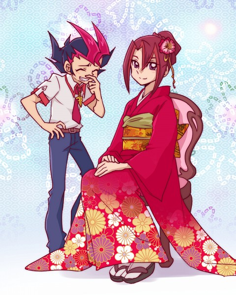Tags: Anime, Pixiv Id 4581484, Yu-Gi-Oh! ZEXAL, Yu-Gi-Oh!, Tsukumo Akari, Tsukumo Yuma, Emperor's Key, Pixiv, Fanart From Pixiv, Fanart