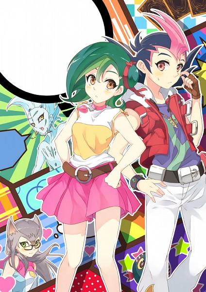 Tags: Anime, Pixiv Id 2315308, Yu-Gi-Oh! ZEXAL, Yu-Gi-Oh!, Tsukumo Yuma, Cathy, Astral, Kurivolt, Mizuki Kotori, Emperor's Key, Mobile Wallpaper, Fanart From Pixiv, Pixiv