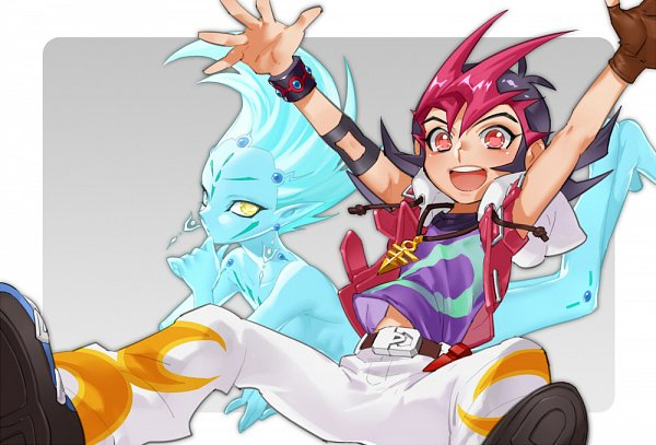 Tags: Anime, CZ, Yu-Gi-Oh!, Yu-Gi-Oh! ZEXAL, Astral, Tsukumo Yuma, Emperor's Key, Pixiv, Fanart From Pixiv, Fanart