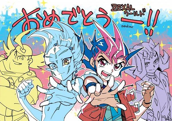 Tags: Anime, Yu-Gi-Oh! Duel Links, Yu-Gi-Oh! ZEXAL, Yu-Gi-Oh!, Tsukumo Yuma, Takeda Tetsuo, Astral, Kamishiro Ryoga, Twitter, Fanart