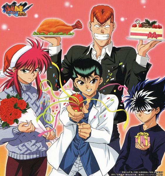 Tags: Anime, Yu Yu Hakusho, Urameshi Yuusuke, Kuwabara Kazuma, Hiei, Kurama