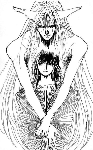 Tags: Anime, Togashi Yoshihiro, Yu Yu Hakusho, Youko Kurama, Kurama, Sketch
