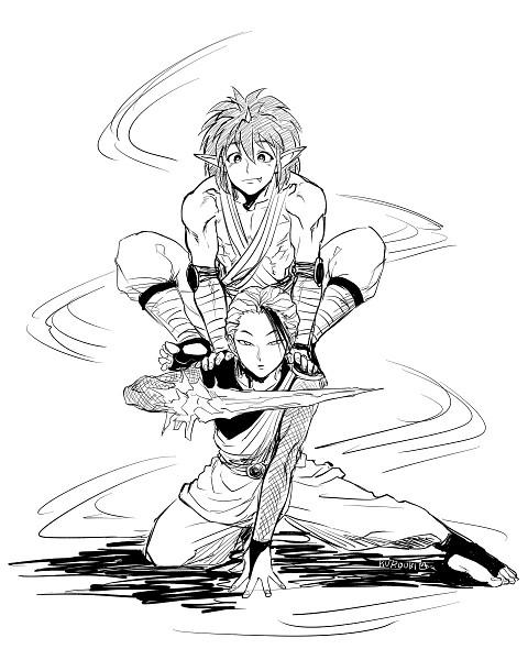 Tags: Anime, Pixiv Id 1198179, Yu Yu Hakusho, Jin (Yu Yu Hakusho), Touya (Yyh)
