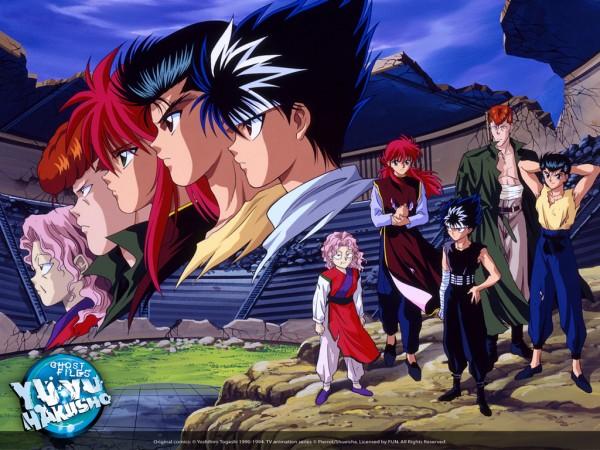 Tags: Anime, Yu Yu Hakusho, Kurama, Genkai (Yu Yu Hakusho), Urameshi Yuusuke, Kuwabara Kazuma, Hiei, Official Art
