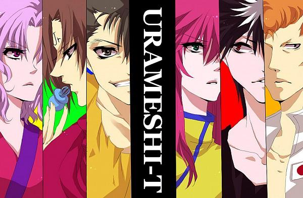 Tags: Anime, Dispar, Yu Yu Hakusho, Kurama, Urameshi Yuusuke, Koenma, Kuwabara Kazuma, Hiei, Genkai (Yu Yu Hakusho), Text: Character Group Name, Pixiv, Fanart