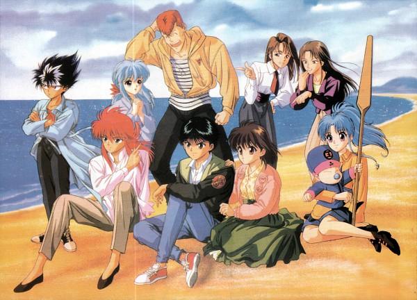 Tags: Anime, Yu Yu Hakusho, Urameshi Yuusuke, Urameshi Atsuko, Kuwabara Shizuru, Kuwabara Kazuma, Hiei, Botan, Kurama, Yukina (Yu Yu Hakusho), Koenma, Oar, Scan