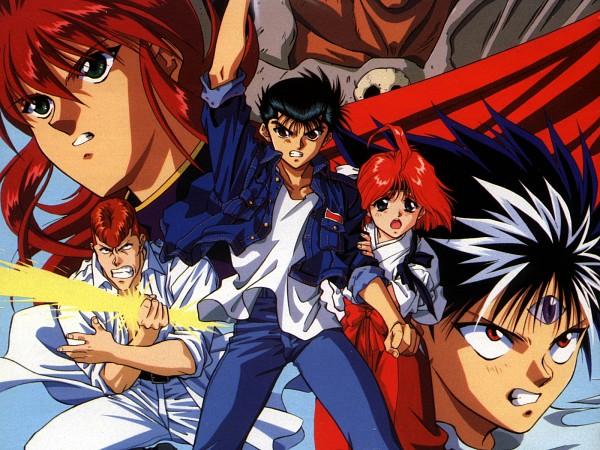 Tags: Anime, Yu Yu Hakusho, Hiei, Kurama, Urameshi Yuusuke, Kuwabara Kazuma, Third Eye, Wallpaper