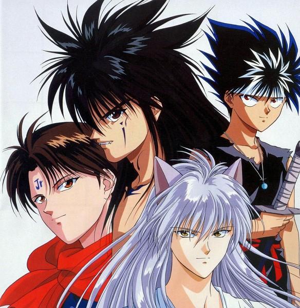 Tags: Anime, Yu Yu Hakusho, Youko Kurama, Koenma, Hiei, Kurama, Urameshi Yuusuke, Official Art