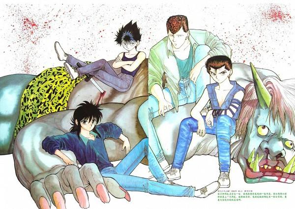 Tags: Anime, Togashi Yoshihiro, Yu Yu Hakusho, Kuwabara Kazuma, Hiei, Kurama, Urameshi Yuusuke